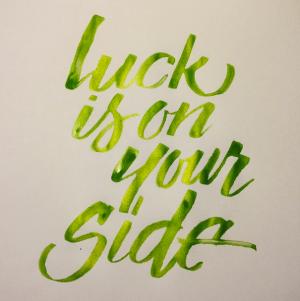 Pearl Ex Apple Green Calligraphy by Linda Yoshida
