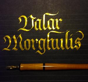 Pearl Ex Solar Gold Calligraphy by Linda Yoshida