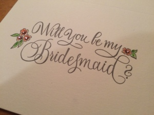 PP Bridesmaid Card